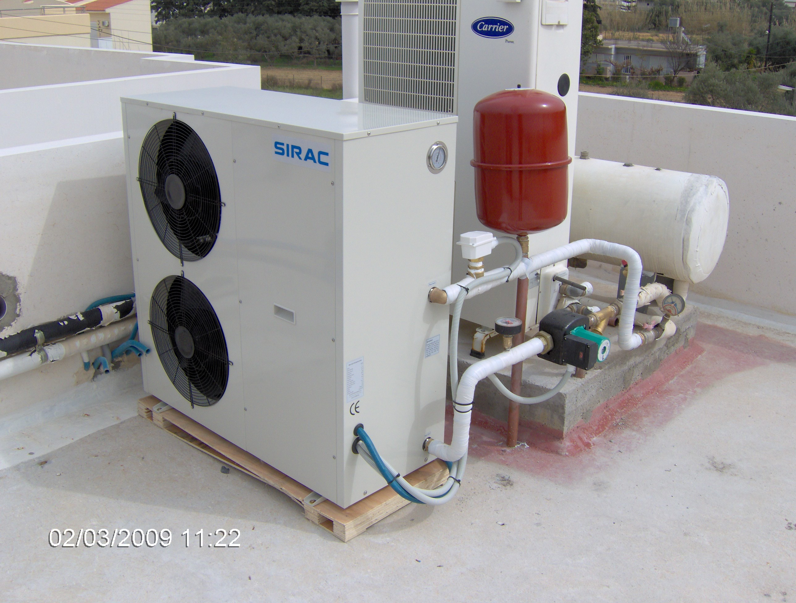 Heating Dhw Application Hpsirac Air Temp Heat Pump Wiring Diagram Project Reference